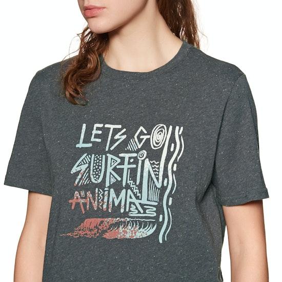 T-Shirt de Manga Curta Senhora Animal Streaky