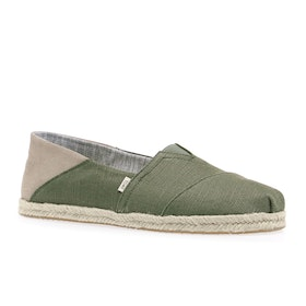 Обувь без шнурков Toms Heritage Canvas - Lichen Green