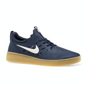 Chaussures Nike SB Nyjah Free - Midnight Navy/summit White-midnight Navy