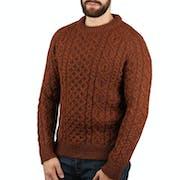 Peregrine Made In England Hudson Aran Sweater
