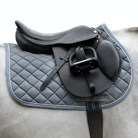 Rambo Showjumping Sattelpad - Charcoal China Blue