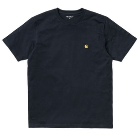 Carhartt Chase T Shirt - Dark Navy / Gold