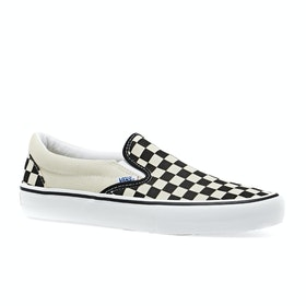 Vans Pro Slip On Shoes - Checkerboard Black White