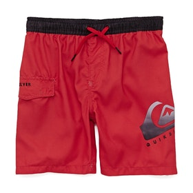 Quiksilver Critical 15in Boys Swim Shorts - High Risk Red
