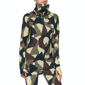 Eivy Icecold Zip Base Layer Top - Wine Camo