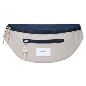 Sandqvist Aste Bum Bag - Multi Beige/Blue