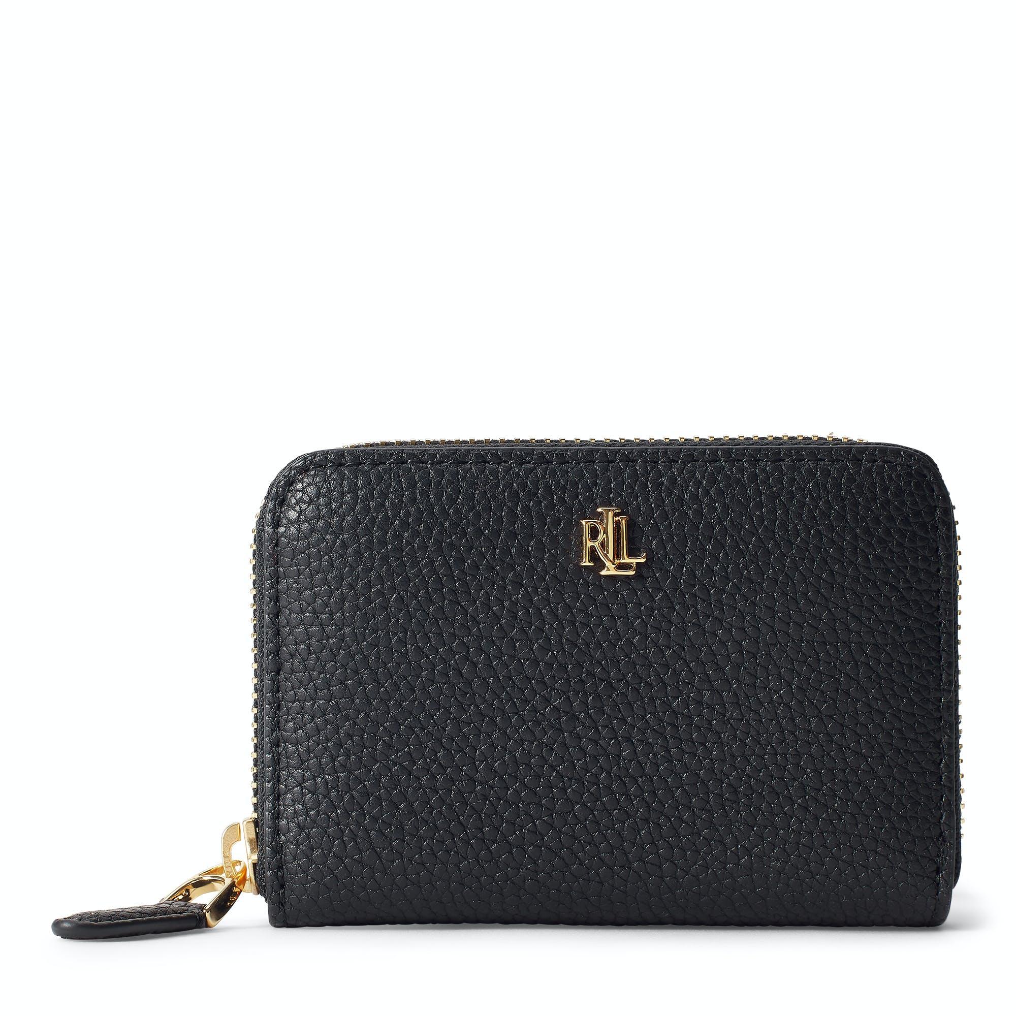 wholesale dealer bcb0f f29a4 Portafoglio Donna Ralph Lauren Sm Zip Small - Black | Country Attire