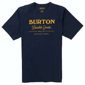 T-Shirt de Manga Curta Burton Durable Goods - Dress Blue