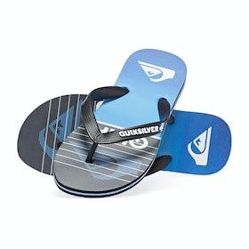 Quiksilver Molokai Highline Slab Sandals - Black Black Blue