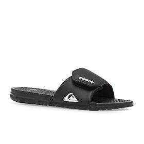 Quiksilver Shoreline Adjust Sliders - Black White Black