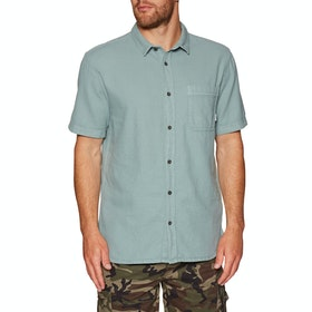 Quiksilver Time Box Short Sleeve Shirt - Stormy Sea