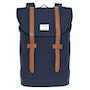 Blue With Cognac Brown Leather