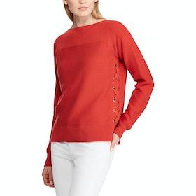 Lauren Ralph Lauren Adelsinda Damen Pullover - Canyon Red