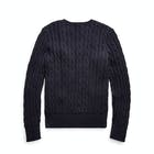 Ralph Lauren Cable Crew Neck Girl's Sweater