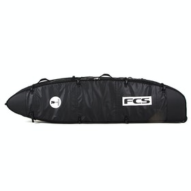 Housse de Surfboard FCS Travel 3 Wheelie Funboard - Black/grey