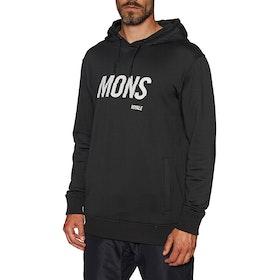 Mons Royale Decade Logo Pullover Hoody - Black