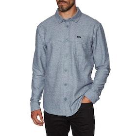 RVCA Black Sand Flannel Ls Shirt - China Blue