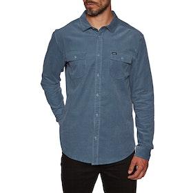 RVCA Freeman Cord Long Sleeve Shirt - China Blue