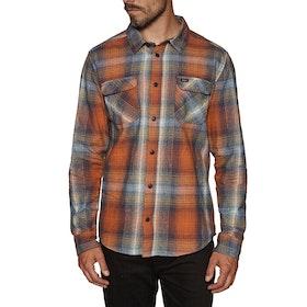 RVCA Muir Flannel Shirt - Rust Orange