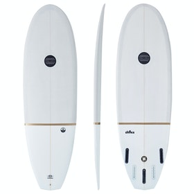 Maluku The Shake Eco Gold Futures 5 Fin Surfboard - Grey