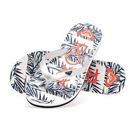 Roxy Tahiti VIP Girls Sandals - Blue White Print