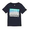 Converse Colourblocked Logo Kids Short Sleeve T-Shirt - Obsidian