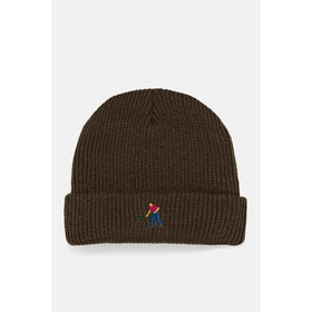 Pass-Port Full Time Embroidery Beanie - Brown