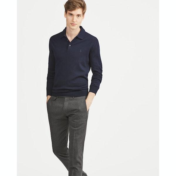 Polo Ralph Lauren Knitted Wool Long Sleeve Polo Shirt