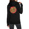 Pullover con Cappuccio Donna Santa Cruz Classic Dot - Black