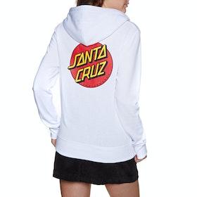 Santa Cruz Classic Dot Womens Pullover Hoody - White