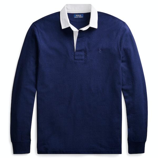 Ralph Lauren Custom Fit Long Sleeve Logo Rugby Top
