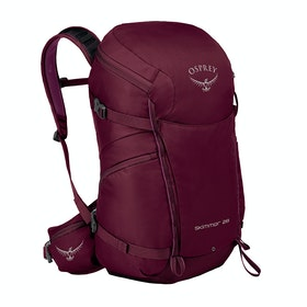 Osprey Skimmer 28 Womens Hiking Backpack - Plum Red