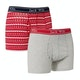 Jack Wills Chetwood Fairisle Print 2pack Boxer Shorts