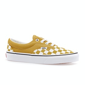 Vans Era Checkerboard Shoes - Yolk Yellow True White