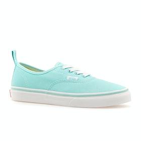 Chaussures Enfant Vans Authentic Elastic Check Lace - Blue Tint True White