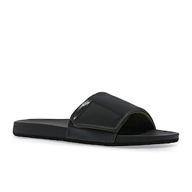Reef Cushion Bounce Sliders - Black