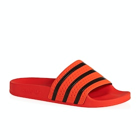 Adidas Originals Adilette Sliders - Active Orange Core Black Active Orange