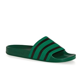 Adidas Originals Adilette Sliders - Bold Green Core Black Bold Green