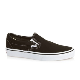 Vans Classic Slip On Shoes - Black