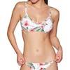 Roxy Dreaming Day Full Bralette Bikini Top - Bright White Tropical Love Sml