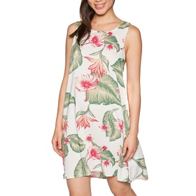 Roxy Harlem Vibes Dress - Marshmallow Tropical Love