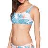 Roxy Sum Del Bralet Bikini Top - Bright White Midnight