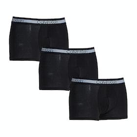 Calvin Klein Cooling Trunk 3pk Boxer Shorts - Black