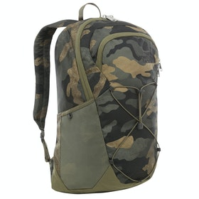 North Face Rodey Backpack - Bright Olive Green Waxed Camo Print