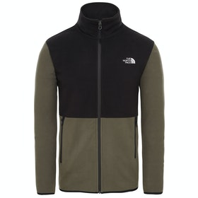 North Face Tka Glacier Full Zip Fleece - New Taupe Green TNF Black
