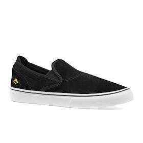 Emerica Wino G6 Slip On Shoes - Black White Gold