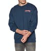 Thrasher Embroidered Outline Crew Sweater - Navy