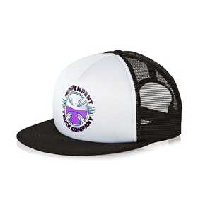 Independent Purple Chrome Mesh Back Cap - White Black
