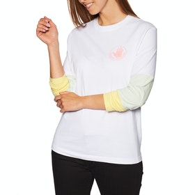 Body Glove Logo Panel Womens Long Sleeve T-Shirt - White