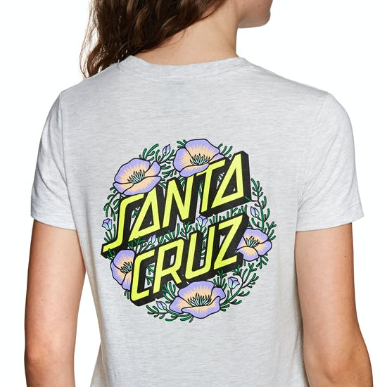 T-Shirt a Manica Corta Donna Santa Cruz Poppy Dot